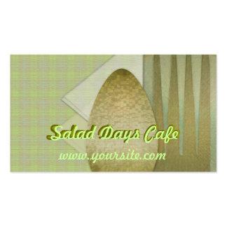 Café dos dias da salada modelo cartões de visita