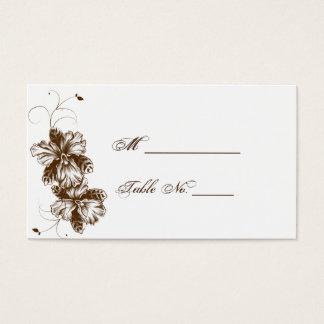Café e cartões florais brancos do lugar do