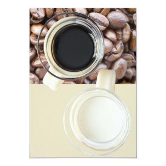 Café e creme convite 12.7 x 17.78cm