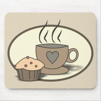 Café e muffin Mousepad para amantes do café