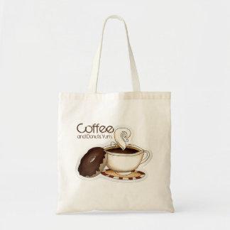 Café e rosquinhas bolsa tote