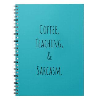 Café, ensino, e sarcasmo cadernos