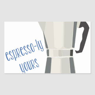 Café-LY seu Adesivo Retangular