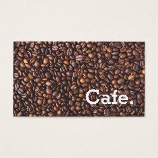 Café marrom moderno do cartão de perfuração da