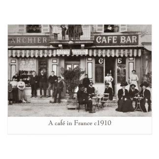 Café no cartão do sepia de France