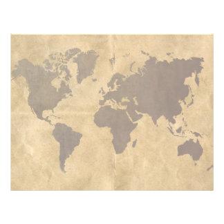 Café no mapa do mundo de papel do estilo flyer 21.59 x 27.94cm