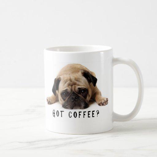 Café obtido? Caneca do Pug