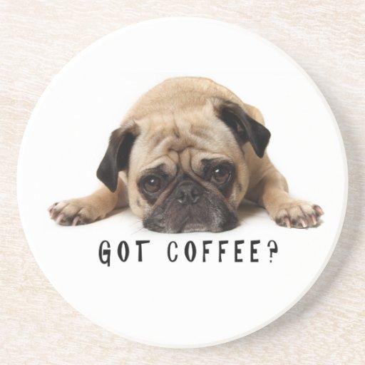 Café obtido? Porta copos do Pug