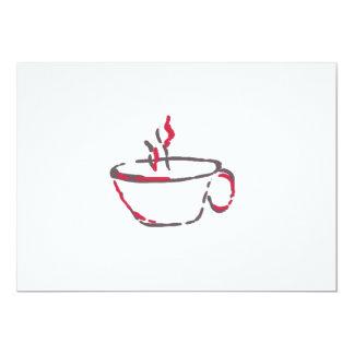 Café ou chá? convite 12.7 x 17.78cm