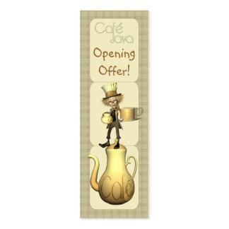 Café ou de propaganda & de promoção da cafetaria c cartao de visita