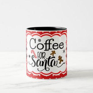 Café para a caneca do papai noel