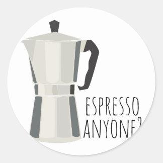 Café qualquer um adesivo