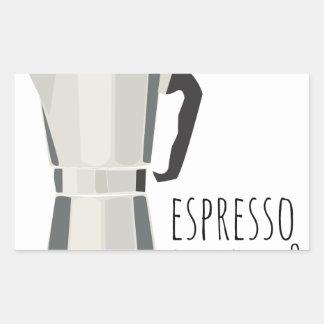 Café qualquer um adesivo retangular