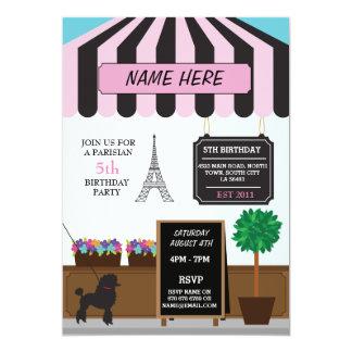 Café que parisiense de Paris toda a festa de Convite 12.7 X 17.78cm