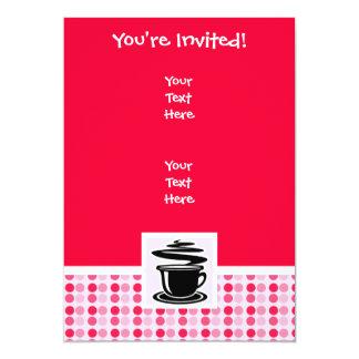 Café quente bonito convite 12.7 x 17.78cm
