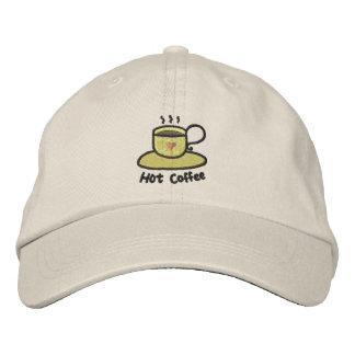 Café quente (esboço preto) boné bordado