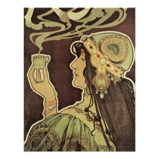 Café Rajah de Nouveau da arte do vintage, chá do b Convites