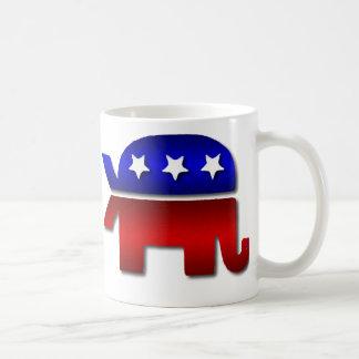 Café republicano do logotipo do elefante dos peixe caneca