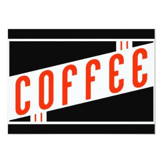 café retro convites personalizados