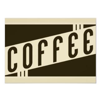 café retro convite personalizado