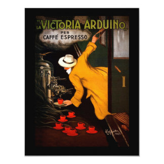 Café retro de Victoria-Arduino Convite 10.79 X 13.97cm