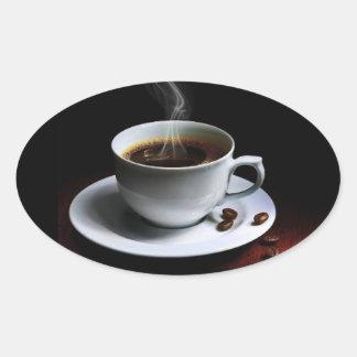 Café surpreendente photo-1 adesivos ovais