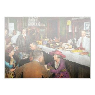 Café - tentações 1915 convite 12.7 x 17.78cm