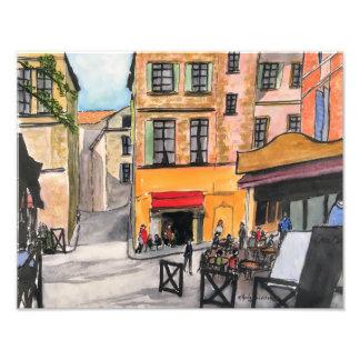 Cafés franceses coloridos - impressão da foto