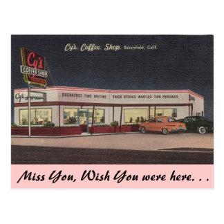 Cafetaria de Califórnia, CY Cartão Postal