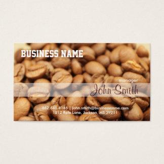 Cafetaria do profissional dos feijões de café cartão de visitas