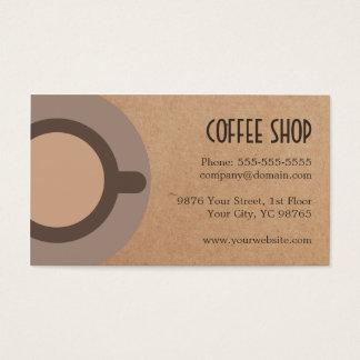 Cafetaria moderna do cartão do ícone do café