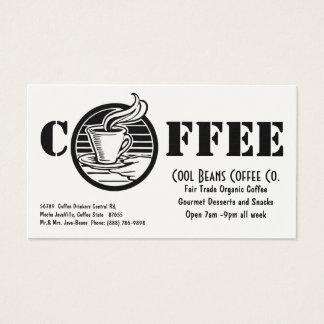 Cafetaria que cozinha o cartão de visita do café