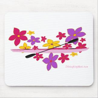 Caiaque de flower power mouse pad