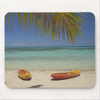 Caiaque na praia, resort da ilha 2 da plantação mouse pad