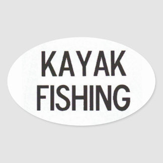 Caiaque que pesca o euro- decalque adesivo oval