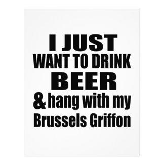 Cair com meu Bruxelas Griffon Papel Timbrado