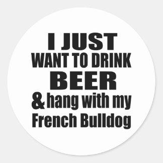 Cair com meu buldogue francês adesivo