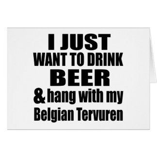 Cair com meu Tervuren belga Cartão