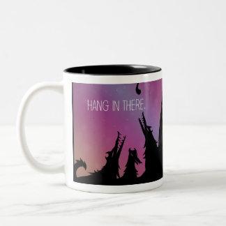 Cair lá na caneca de café
