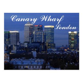 Cais amarelo, cartão de Londres