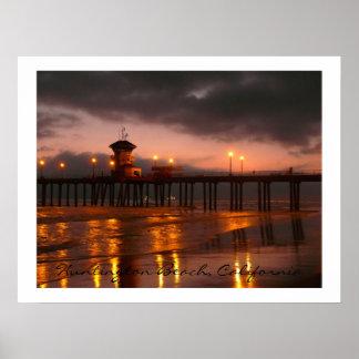 Cais Califórnia EUA de Huntington Beach Pôster