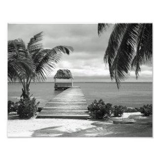 Cais da ilha impressão de fotos