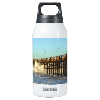 Cais da tempestade da onda de oceano garrafa de água térmica