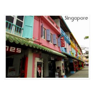 cais de singapore cartão postal