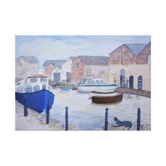 Cais Devon Reino Unido de Exeter Impressão Em Tela