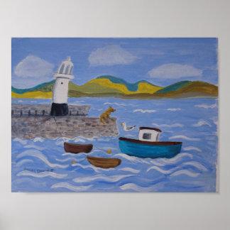 Cais subtil St Ives de Smeatons do porto Pôster