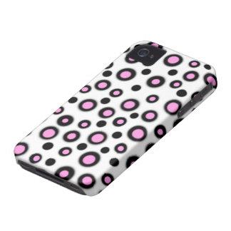 Caixa 4 & 4S preta & branca cor-de-rosa bonito Capinhas iPhone 4