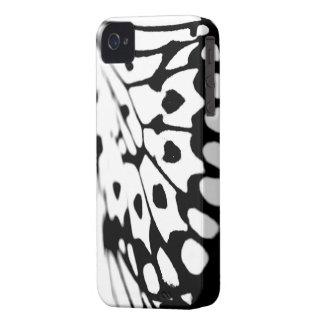Caixa 4s preto e branco do iPhone 4 do impressão Capa Para iPhone