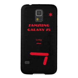 Caixa 7 afortunada da galáxia S5 de Samsung Capa Para Galaxy S5