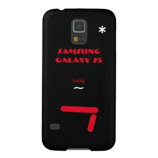Caixa 7 afortunada da galáxia S5 de Samsung Capas Par Galaxy S5